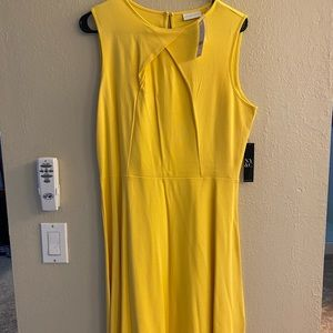 NY & C Yellow Midi Dress - NWT Size Large